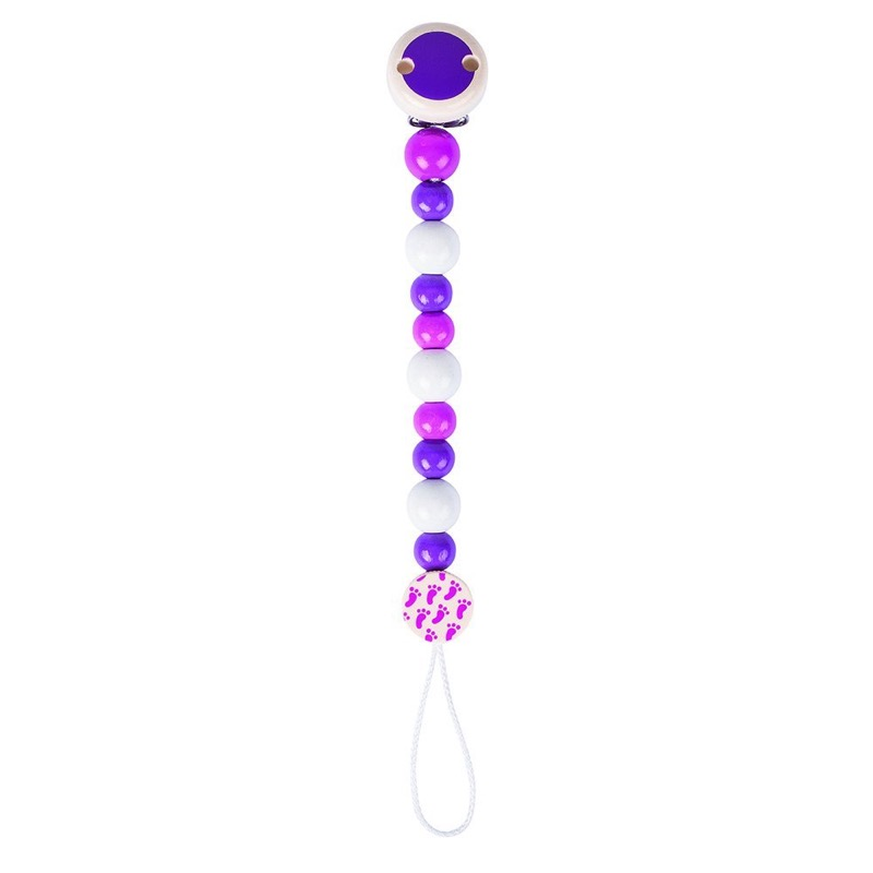 Heimess Pink And Purple Bead Soother Chain - 732360 | LeVida Baby