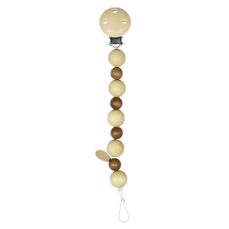 Heimess Natural Wood Bead Soother Chain - 734660 | LeVida Baby