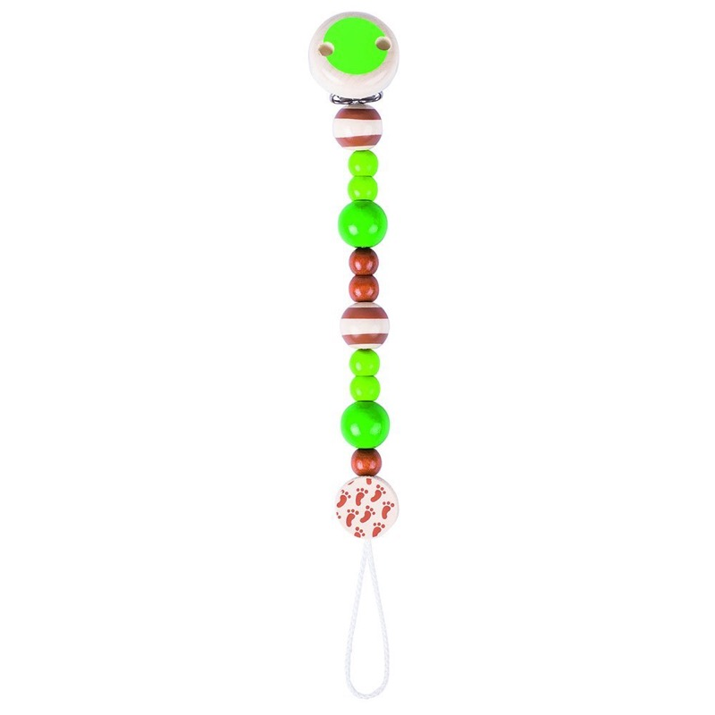 Heimess Green And Brown Soother Chain - 734730   LeVida Baby