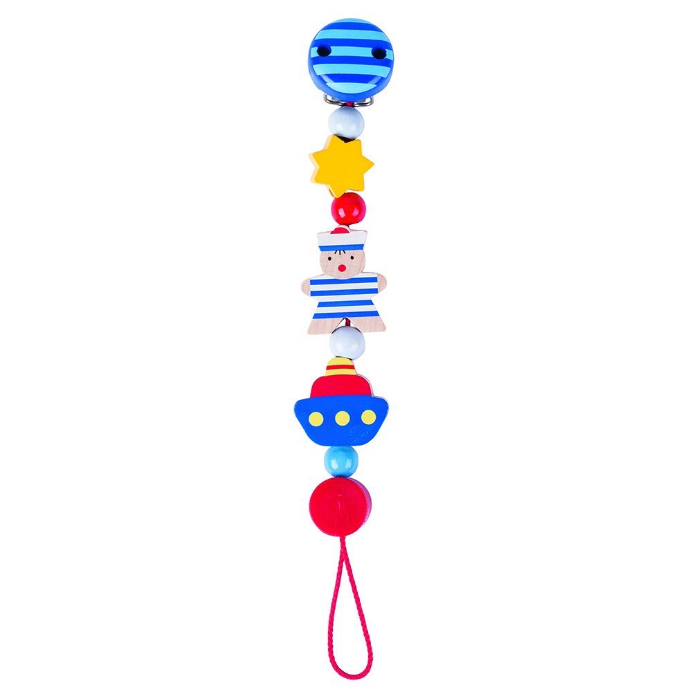 Wooden Sailor Soother Chain by Heimess (763530) | LeVida Baby