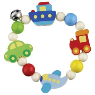 Vehicles Touch Ring - Wooden Baby Toy by Heimess | LeVida Baby