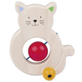 Cat Touch Ring - Wooden Baby Toy by Heimess | LeVida Baby