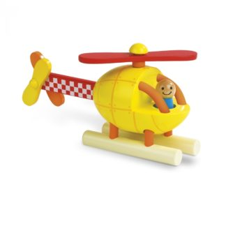 Janod Magenetic Helicopter - 5 piece stacking toy | LeVida Baby