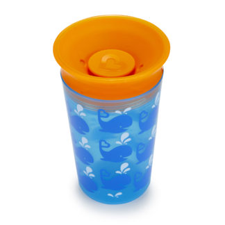 Munchkin Miracle 360° Deco Sippy Cup: 12m+ (Blue Whale)