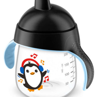Avent Premium Spout Cup 260ml: 12m+ (Black Penguin)