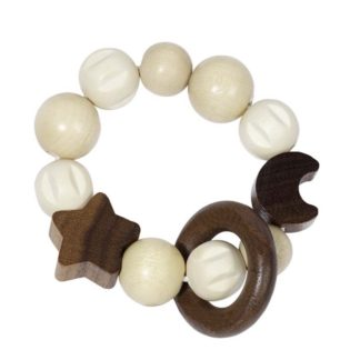 Moon And Stars Touch Ring - Wooden Baby Toy by Heimess | LeVida Baby