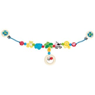 Wooden African Animals Pram Chain by Heimess (735930) | LeVida Baby