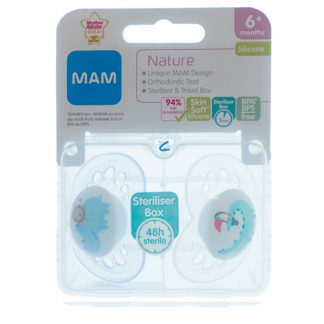 Mam Nature Soother Twin Pack: 6m+ (Hippo/Crocodile)