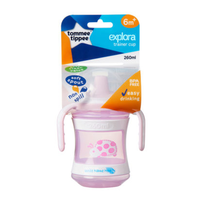 Tommee Tippee Explora Training Cup 260ml: 6m+ (Pink)