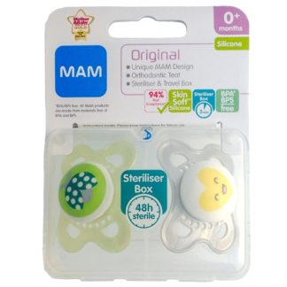 Mam Original Soother Twin Pack: 0m+ (Ladybug/Heart)