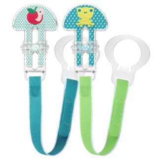 MAM Clip Soother Saver Double Set (Apple/Frog)