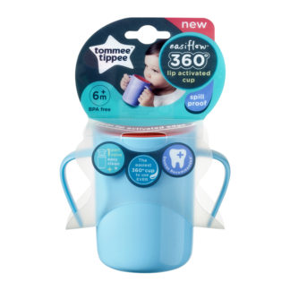 Tommee Tippee Easiflow 360° Training Cup 200ml: 6m+ (Blue)