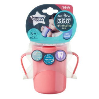 Tommee Tippee Easiflow 360° Training Cup 200ml: 6m+ (Pink)