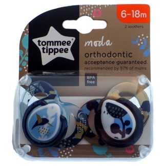 Tommee Tippee Moda Soother Twin Pack - 6-18m (Bird)