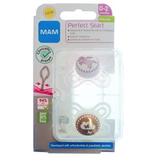 MAM Perfect Night Soother Twin Pack: 12m+ (Bird/Swan)