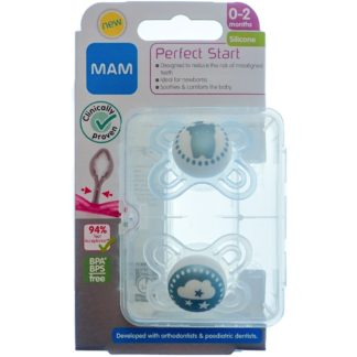 MAM Perfect Start Soother Twin Pack: 0-2m (Elephant/Sun)