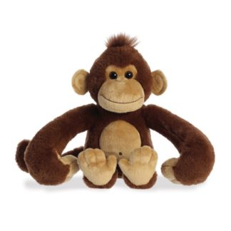 Aurora: Hang n Swing Monkey 13 Inch soft toy - LeVidaBaby