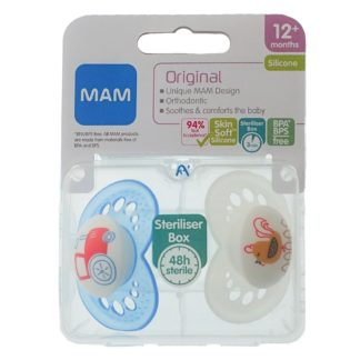 Mam Original Soother Twin Pack: 12m+ (Tractor/Rooster)