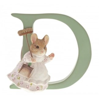 """D"" Hunca Munca Sweeping - Peter Rabbit Letter"