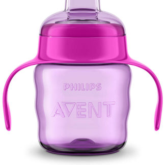 Avent Easy Sippy Cup 200ml 6m+ (Purple & Pink)