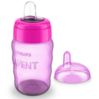 Avent Easy Sip Spout Cup 260ml 9m+ (Purple & Pink)
