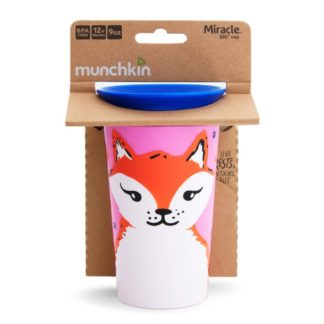 Munchkin Miracle 360 WildLove Sippy Cup: 12m+ (Fox)