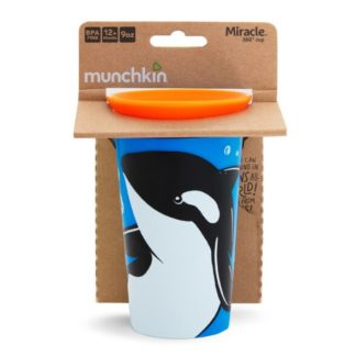 Munchkin Miracle 360 WldLove Sippy Cup: 12m+ (Orca)