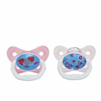 Dr Brown's PreVent Soother Twin Pack: 6-12m (Pink Elephant)