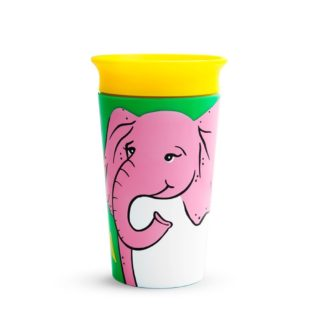Munchkin Miracle 360 WldLove Sippy Cup: 12m+ (Elephant) - LeVidaBaby