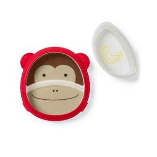 Skip Hop - Zoo Smart Serve Plate & Bowl: Marshall Monkey - LeVidaBaby