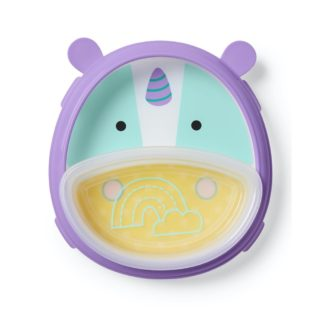 Skip Hop - Zoo Smart Serve Plate & Bowl: Eureka Unicorn - LeVidaBaby