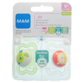 MAM Air Soother Twin Pack: 0m+ (Green)