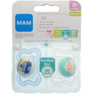 MAM Air Soother Twin Pack: 0m+ (Blue)