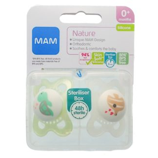 Mam Nature Soother Twin Pack: 0m+ (Turtle/Fish)