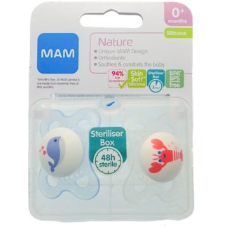 Mam Nature Soother Twin Pack: 0m+ (Whale/Lobster)