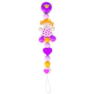 Wooden Princess Soother Chain by Heimess | LeVida Baby