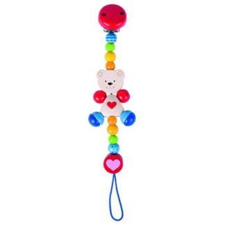 Bear With Heart Soother Chain
