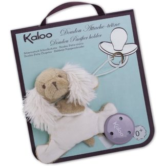 Kaloo Caramel Dog Doudou Pacifier Holder - LeVidaBaby