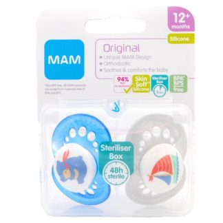 Mam Original Soother Twin Pack: 12m+ (Bears/Sailing Boat)